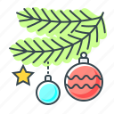 branch, christmas, christmas tree, decorations icon