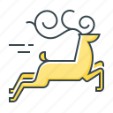 animal, christmas, deer, xmas icon