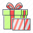 boxes, christmas, gifts, surprise icon