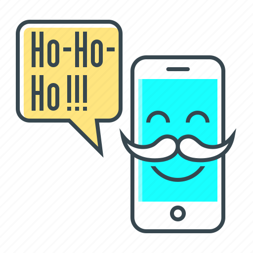 christmas, message, mobile, phone icon