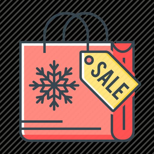 bag, christmas, sale, shopping icon