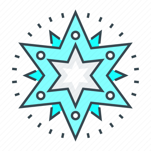 christmas, decoration, snowflake, star, xmas icon