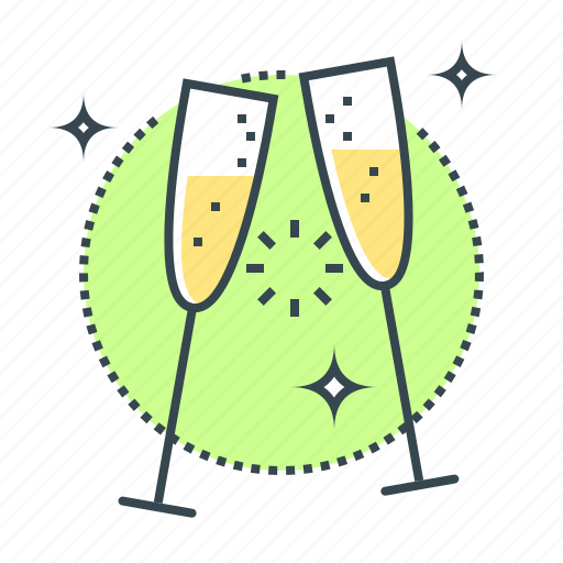 christmas, event, new year, toast icon