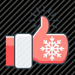 christmas, hand, tumb, tumb up, up icon