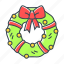 bow, bowknot, christmas, decoration, wreath icon