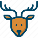 christmas, deer, new year, reindeer, rudolph, xmas icon