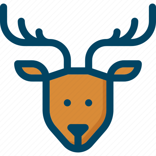 christmas, deer, new year, reindeer, rudolph, xmas icon