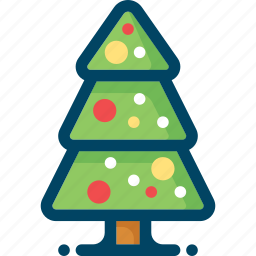 christmas, decoration, new year, tree, xmas icon