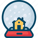 ball, christmas, decoration, home, new year, snow, xmas icon