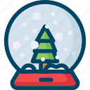 ball, christmas, decoration, new year, snow, tree, xmas