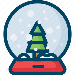 ball, christmas, decoration, new year, snow, tree, xmas icon