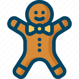 christmas, cookie, gingerbread, man, new year, xmas icon