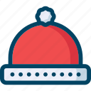 christmas, hat, new year, red, santa, xmas icon