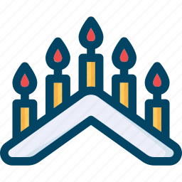 candle, christmas, fire, holder, new year, xmas icon
