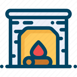 christmas, cozy, fire, fireplace, flame, home, xmas icon