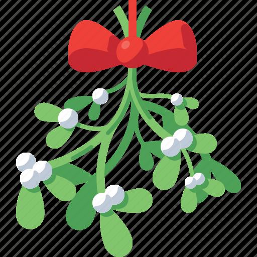 Bow Celebration Christmas Decoration Holiday Mistletoe Xmas Icon