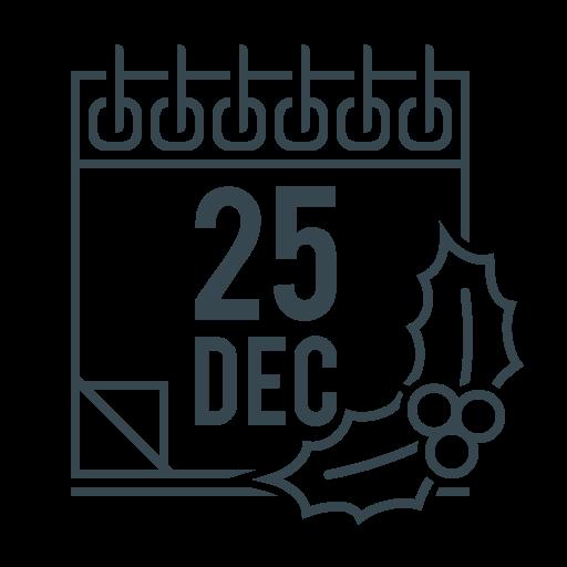 calendar, christmas, date, december, event, xmas icon