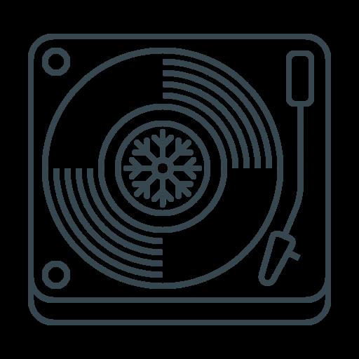 christmas, music, musical, player, sound, turntable, vinyl icon