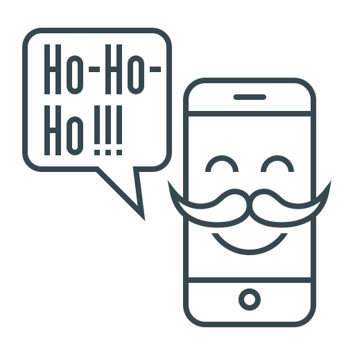 bubble, christmas, funny, message, mobile, phone icon