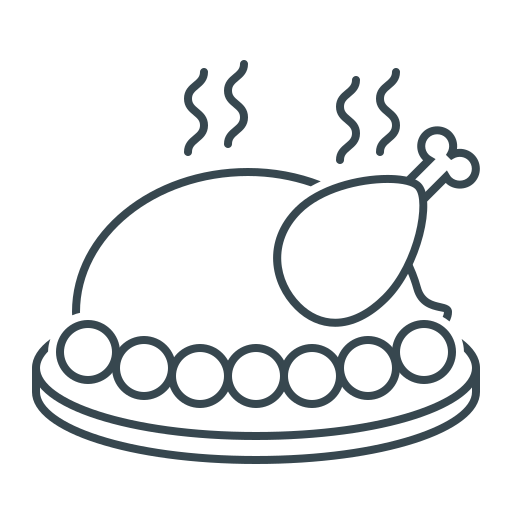 chicken, christmas, new year, thanksgiving day, turkey icon