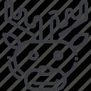 animal, christmas, cute, reindeer, santa, winter, xmas icon