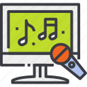 bar, club, karaoke, microphone, music, night, party icon