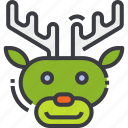 animal, christmas, cute, reindeer, santa, winter, xmas icon