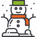 christmas, happy, hat, man, snow, snowman, winter icon