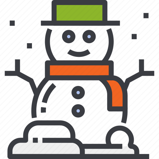 christmas, happy, hat, man, snow, snowman, winter icon