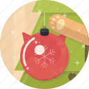 ball, cat, celebration, christmas, decoration, tree, xmas icon