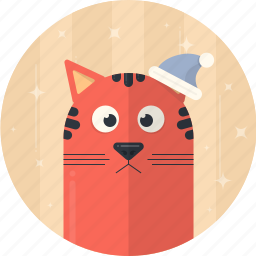 cap, cat, celebration, christmas, decoration, holiday, xmas icon