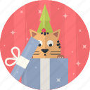 cat, celebration, christmas, decoration, gift, tree, xmas icon