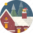 cat, celebration, christmas, home, house, santa, xmas icon