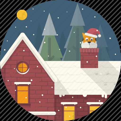 cat, celebration, christmas, home, house, santa, xmas icon