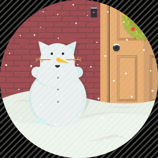 cat, celebration, christmas, snow, snowflake, snowman, xmas icon