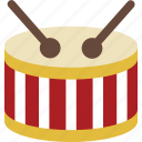 drum, instrument icon
