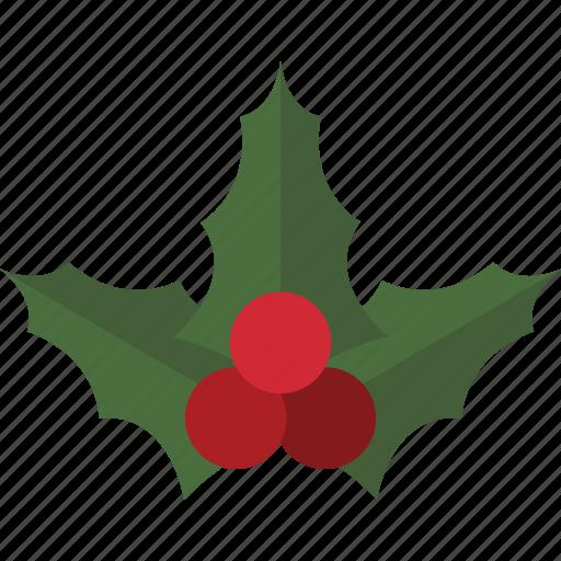 Christmas Holly Mistletoe Icon
