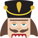 christmas, head, nut cracker, nutcracker icon