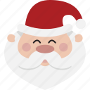 avatar, head, santa icon