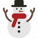 christmas, man, snow, snow man, snowman icon