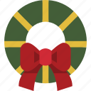 christmas, christmas wreath, decoration, wreath icon