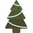 christmas, christmas tree, decorated, ornaments, tinsel, tree icon
