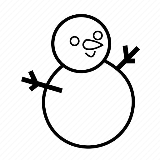 christmas, cold, happy, holiday, snow, snowman icon