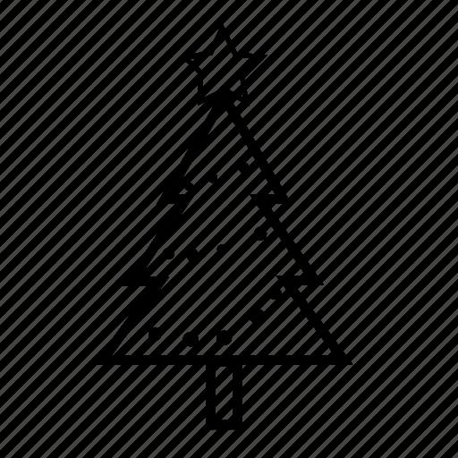 christmas, christmas tree, decoration, nature, star, tree icon