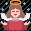 user, angel, avatar, character, christmas