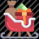 sleigh, winter, xmas, snow, christmas