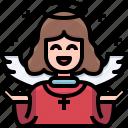 user, christmas, avatar, character, angel
