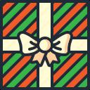 birthday, christmas, gift, gifts, presents, wrap, xmas icon