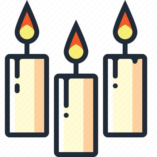 burning, candles, christmas, decorations, flame, lights, xmas icon