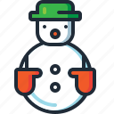 christmas, decoration, fun, hat, snow man, snowman, xmas icon